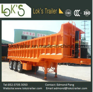 31cbm 3 Axles Hydraulic Tipper Trailer pictures & photos