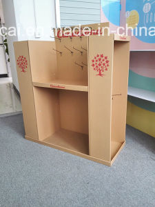 Craft Paper Pallet Display Stand with Metal Hooks for Clothes, Environmental, Sturdy Supermarket Cardboard Pallet Display for Promotions! pictures & photos