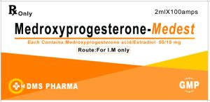 Medroxyprogesterone & Estradiol & Sterile Suspension Human Medicine for Injection pictures & photos