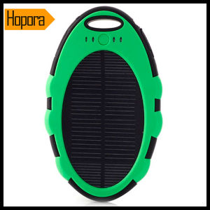 5000mAh Waterproof Solar Power Bank Mobile Phone Charger pictures & photos
