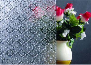 3-8mm Begonia Patterned Glass with CE&ISO9001