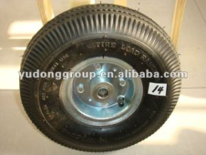 Qingdao Air (pneumatic) Wheelbarrow Tire, Rubber Wheel 410/3.50-4 pictures & photos