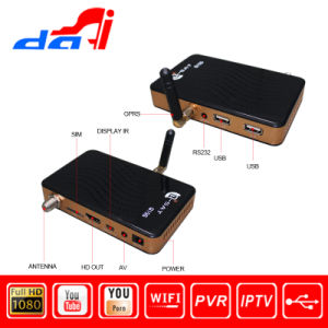 Mini Dvbs2 GPRS Dongle Full HD Satellite Receiver with USB WiFi and Ca