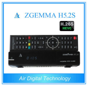 Twin Tuner DVB-S/S2 Linux HD PVR Ready Satellite Receiver with Hevc H. 265 Zgemma H5.2s pictures & photos