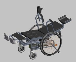 Reclining Electric Wheelchair With Bedpan (KFL29)