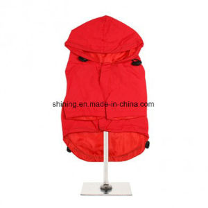 Waterproof Dog Raincoat Pet Clothes in Red pictures & photos