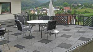 Garden Walkway Pathway Roof Top Patio Home Yard Rubber Flooring Tile (PT 01)