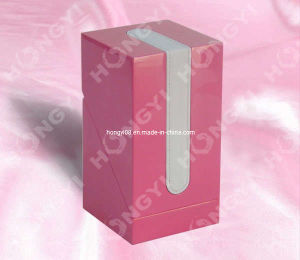 Pink Lacquered + Silver PU Leather Oblique Opening Perfume Box (HYW049) pictures & photos