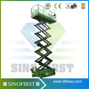 5m to 18m Full Electric Driving Moving Scissor Lift Platform pictures & photos