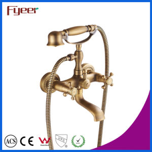 Fyeer Antique Bronze Telephone Bath Shower Mixer Faucet for Wall Mounted pictures & photos