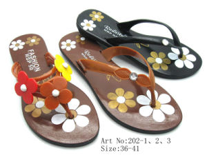Ladies′ PVC Slipper (202)