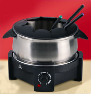Electric Stainless Steel Fondue Set pictures & photos