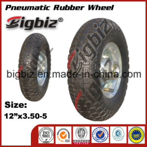 3.50-5 Natural Rubber Wheels for Trolley Tire pictures & photos