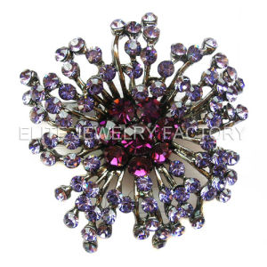 Flower Shaped Fashion Jewelry- Crystal Brooch (B0498)