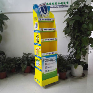 6-Layers Rotary Cardboard Floor Display with Greyboard for Woodlock Medicated Balm, , Sturdy and Creative Cardboard Display Stand pictures & photos
