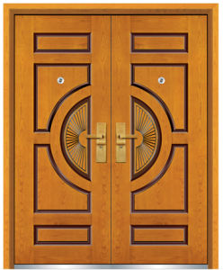 Steel Wooden Armored Door (FXGM-A105D) pictures & photos