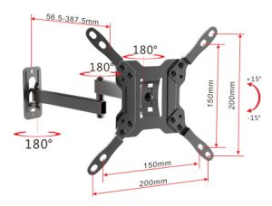 Full Motion 23-42 Inch TV Wall Mount. LCD Wall Bracket