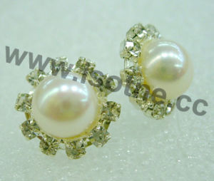 Classy Freshwater Pearl Earrings with Rhinestone