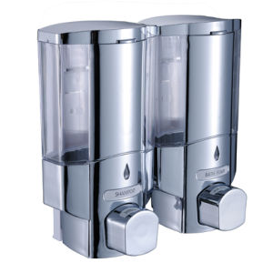 FLG Double Bottle Chamber Shower and Shampoo Dispenser Chrome pictures & photos