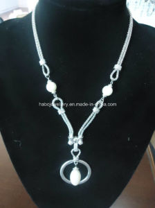 Glory Pearl Pendant Long Chain Necklace (XJW13364) pictures & photos