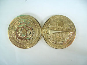 Gold Plating Double Sides Challenge Coin with OEM Design