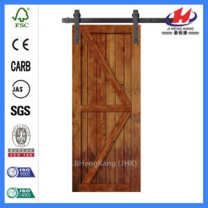 Aluminium Hardware Wood Sliding Barn Door (JHK-SK09) pictures & photos