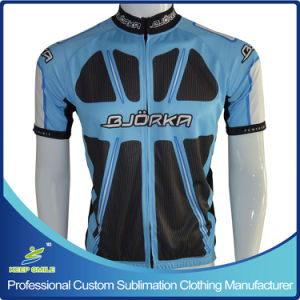 Custom Sublimation Cycling Jersey with Full Zipper pictures & photos