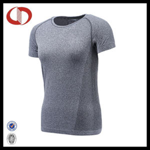 Wholesale Womans Breathable Mesh Running Shirts pictures & photos