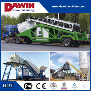 20cbm, 25cbm, 35cbm, 50cbm, 75cbm, 100cbm/H Mobile Concrete Mixing Plant for Sale pictures & photos