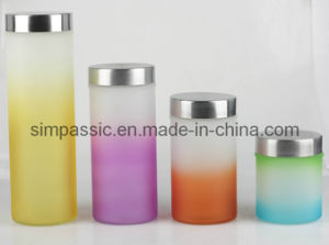 Hand Painting Glass Storage Jar (4PCS) (SG1428SJ) pictures & photos