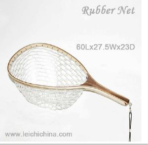Wood Rubber Fly Fishing Landing Net pictures & photos