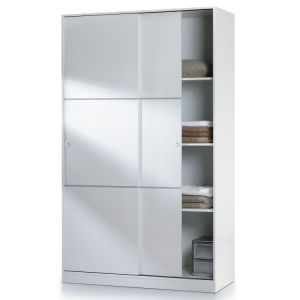 White High Gloss Bedroom Furniture 2 Sliding Door Wardrobe (WB41) pictures & photos