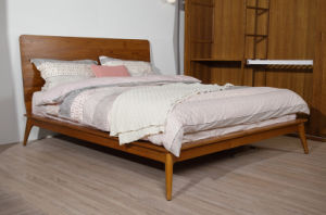 High Headboard Solid Teak Wood King Size Bed (STB-002) pictures & photos