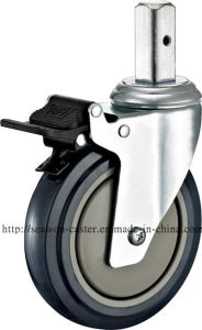 4 in. PU Medical Caster - Square Stem and Brake pictures & photos