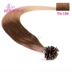 Salon Quality European 100% Remy Human U-Tip Hair Extensions pictures & photos