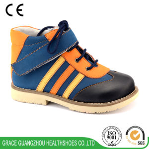 Grace Ortho Leather Healing Shoes for Correcting Flat Foot (4612455-2) pictures & photos