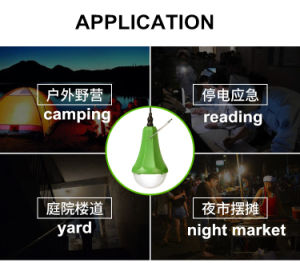 Outdoor/Indoor Solar Light Two Bulbs Lamp LED Light System pictures & photos