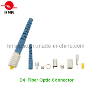 D4 Singlemode Multimode Fiber Optic Connector pictures & photos