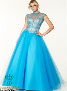 The New Beaded Evening Dress, Lady Party Prom Dress