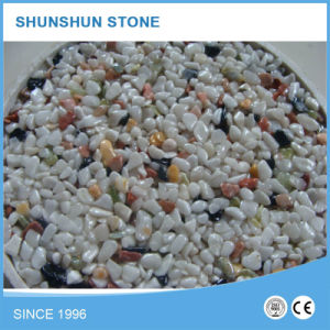 White and Black Natural Polished Pebbles for Landscaping pictures & photos