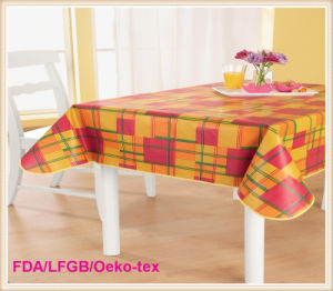 Vinyl Tablecloth/Wedding Table Overlays PVC in Wholesale pictures & photos