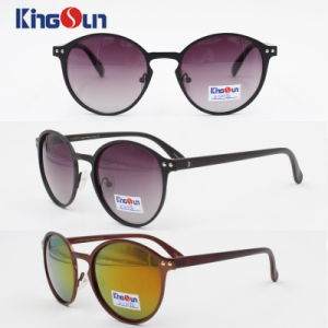Polarized Round Copper Sunglasses Women Vintage Metal Female Sun Glasses Lady′s Shades Sunglases Ks1096 pictures & photos