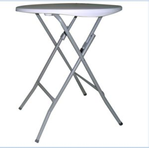 73.5cm Height 61cm Round Samll Plastic Folding Bar Cocktail Tables pictures & photos