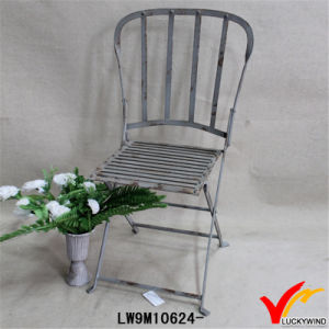 French Country Round Sitting Iron Antique Folding Garden Chairs pictures & photos