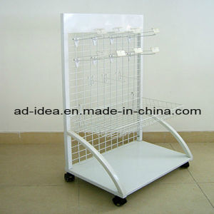 Supermarket Metal Floor Display Stand with 4 Adjustable Metal Shelves pictures & photos