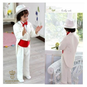 White Fishtail Wedding Dress Flower Boy Suit, Factory Direct