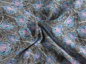 Polyester Chiffon Velvet with Printing (XSC011) pictures & photos
