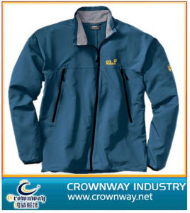 Waterproof Men′s Solfshell Jackets with Quality Embroidery Logo pictures & photos