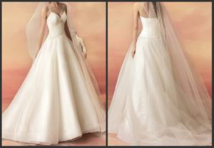 A-Line Bridal Gown Pleated Chiffon Wedding Dresses Dz68 pictures & photos