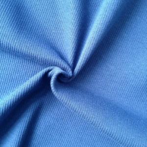 Cotton/Spandex Knitting Fabric 2X2 Rib (QF13-0688) pictures & photos